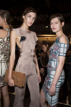 Hervé Léger by Max Azria at New York Spring 2016 (Backstage)