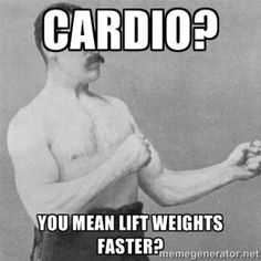 Is cardio your nemisis?  Read today's DLF blog post. #noexcuses #noregrets