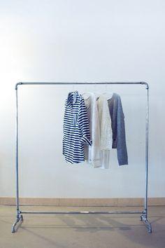 Simple Kleiderstange Industry verzinktes Stahlrohr m