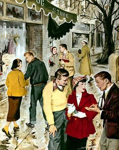 We've Got The Secrets The Fashion Experts Don't Want You To Know. Unless you've been completely oblivious to it, fashion is a big part of daily life for everyone. Vintage Love, Vintage Colors, Vintage Art, Vintage Photos, Vintage Paintings, Fashion Illustration Vintage, Children's Book Illustration, Vintage Illustrations, Thomas Kinkade