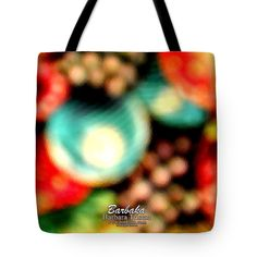 "Fruit Sticker Tote Bag 18"" x 18"" by Barbara Tristan"