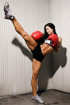 her legs rock.