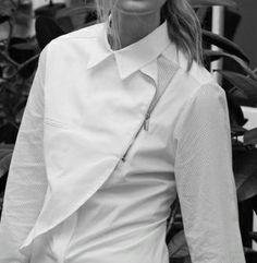 White shirt - fastenings (zipper)