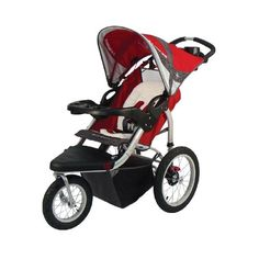 Schwinn Turismo Swivel Single Jogger:     The wide tread tires of the Schwinn Turismo Swivel Single Jogger are great for handling even the roughest terrains. The 12-Inch front swivel wheel locks forward for added control and stability, while the 16-Inch rear wheels glide with ease for effortless pushing. This single stroller features a lightweight aluminum frame.    http://amzn.to/swivelsinglejogger