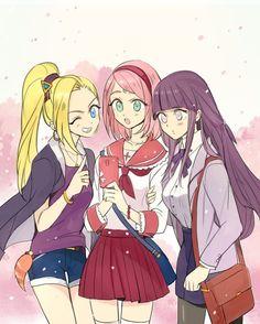 NARUTO SHIPPUDEN, Fan art, Hinata, Sakura & Ino