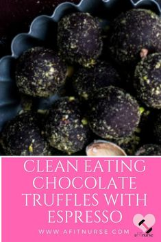 Clean Eating Chocolate Truffles with Espresso Chocolate Chip Recipes, Dark Chocolate Chips, Chocolate Truffles, Clean Eating Chocolate, Healthy Food Alternatives, No Bake Desserts, Clean Eating Recipes, Cocoa, Healthy Snacks