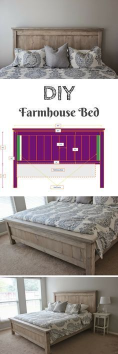 Check out how to build a DIY farmhouse bed @istandarddesign