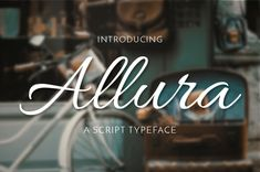 FREE Allura is the script format of the Allura Pro family. Like other designs by Rob Leuschke, Allura is stylized, yet very legible. It& accessible to all so you can use it with no hesitations! Can be used for personal and commercial purposes. Script Typeface, Typography Logo, Cursive Script, Dingbat Fonts, Calligraphy Name, Modern Calligraphy, Best Free Fonts, Brand Fonts, Visual Identity