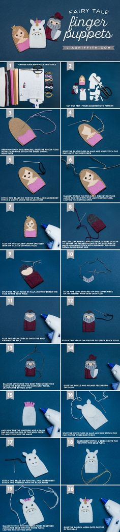 How to Make Finger Puppets for your Fairy Tale Castle (Part 2)