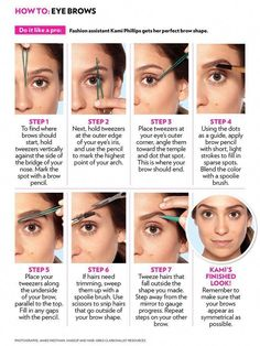 Make-up The best way to Fill in Your Eyebrows with Pencil/Eyeliner/Eyeshadow/Powder The best way to Korean Eyebrows, Filling In Eyebrows, Thin Eyebrows, How To Color Eyebrows, Natural Eyebrows, Makeup Eyebrows, Eye Brows, How To Pluck Eyebrows, How To Shape Eyebrows For Beginners