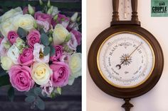 The wedding bouquet and the barometer pointing towards a nice day! Weddings at Clontarf Castle Hotel by Couple Photography. Hotel Wedding, Couple Photography, Wedding Bouquets, Castle, Bloom, Weddings, Bridal, Nice, Couples