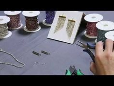 nice DIY Bijoux - How to use Cup Chain Ends to make Rhinestone Fringe Earrings