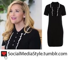 8737312c7b4 Buy Reese Witherspoon s Draper James Black and White Polo Sweater Dress