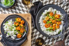 Tossing shrimp in a sweet maple soy glaze creates delicious caramelization in the pan. The crunch of snap peas balances out the fluffy jasmine rice. These quick tricks make for a super flavourful, quick stir-fry! Hello Fresh Recipes, Quick Stir Fry, Sugar Snap Peas, Jasmine Rice, Shrimp Recipes, Fries, Veggies, Healthy Recipes