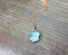 Aquamarine necklace raw aquamarine necklace rough aquamarine genuine aquamarine necklace raw gemstone march birthstone rose gold silver