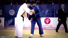 """Judo gif """"You got to have some serious power to execute a Seoi-nage this way! M-A-S-S-I-V-E . — juji-gatame tumblr"""