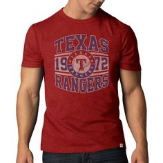 Texas Rangers '47 Scrum Basic T-Shirt - Red - $28.99