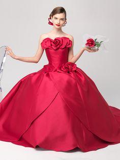 エリ松居ウエディングドレスサロン  花の精 チェリーピンク