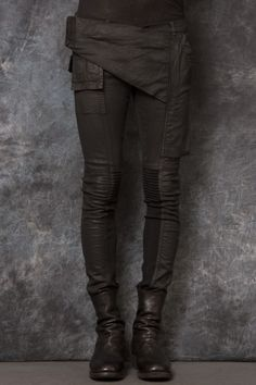 Rick Owens memphis waxed trouser Follow Overdeauxis, The Streetfashion Bible!