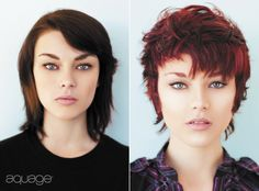 Take boring midlength hair to short and sassy. Texturized with Transforming Paste