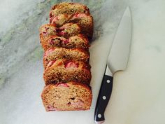 Strawberry Chia Banana Bread - Chocolate Covered Cheetah