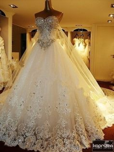 Bridal gown or ball gown? Either way, this is fabulous!