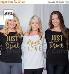 ENDS AT 12AM just drunk  bachelorette shirts by LineLiam on Etsy