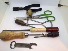 Vintage Lot of 9 Vintage Items Bottle Openers Tools Screw Drivers Latch Hook +