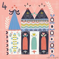 Flora Waycott Christmas Advent 2015 Day 4 - I'd love to live in a stitched castle! xx