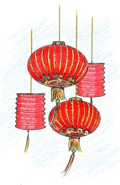 Chinese Lanterns Illustration | Recipe of the Week: Roz Weitzman's ...