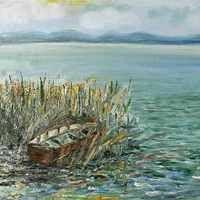 Balatonederics elátkozott Fekete kastélya, ebek harmincadján - Balaton Blog Blog, Painting, Painting Art, Paintings, Painted Canvas