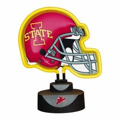 "NCAA Iowa State Neon Helmet by The Memory Company. $29.99. Available in Collegiate, MLB, NFL & NHL Teams. 12"" Tall by 9"" Wide. NCAA Iowa State Neon Helmet"
