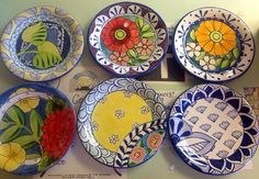 Small plates at Damariscotta Pottery