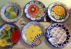 Small plates at Damariscotta Pottery click now for info. Pottery Plates, Ceramic Plates, Ceramic Pottery, Hand Painted Plates, Hand Painted Furniture, Decorative Plates, Pottery Painting, Ceramic Painting, Ceramic Art