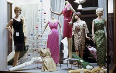 Gift display in a ladies fashion shop on Saville Row, Newcastle upon Tyne Robert Sanderson Tyne & Wear Archives & Museums Line Shopping, Shopping Hacks, Window Shopping, 1960s Fashion, Fashion Models, Fashion Days, Fashion Displays, Black Friday Shopping, Christmas Fashion