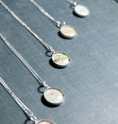 Petite Vintage Map Sterling Silver Necklace. You Pick MAP!