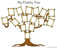 template for making a family tree