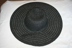 "NWT Womens Beautiful Dorfman Pacific Scala Vented Brim Sun Hat 7"" Brim Black #DorfmanPacific"