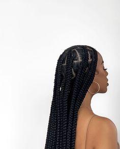 Box Braids Hairstyles, Black Girl Braided Hairstyles, Black Girl Braids, Baddie Hairstyles, Girls Braids, Protective Hairstyles, Girl Hairstyles, Protective Styles, Trajes Kylie Jenner