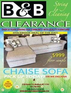 B&b Furniture, Quality Furniture, Clearance Furniture, Chaise Sofa, Chaise Couch