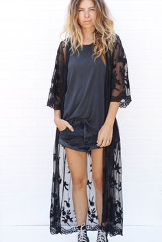 black lace duster from ascot   hart