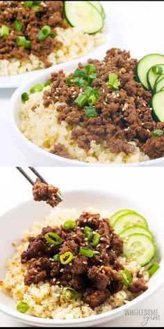 Easy Keto Korean Ground Beef Bowl Recipe - You'll love this keto Korean beef bowl! See how to make an easy Korean ground beef recipe that's healthy, gluten-free, and full of flavor. with ground beef Easy Keto Korean Ground Beef Bowl Recipe Healthy Beef Recipes, Healthy Cooking, Asian Recipes, Low Carb Recipes, Minced Beef Recipes Easy, Ground Beef Bowl Recipe, Ground Beef Recipes For Dinner, Whole30 Ground Beef Recipes, Ground Lamb Recipes