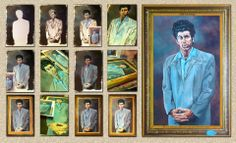 """A reproduction of the famous """"Kramer"""" painting for a gift. This took me 27 hours to complete and I painted it all side ways as the table was too small to paint the other way. Paintings, Table, Gifts, Art, Art Background, Presents, Paint, Painting Art, Kunst"""
