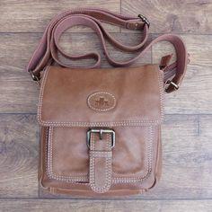 ROWALLAN TAN LEATHER HALF FLAP HAND BAG SHOULDER BAG CROSS BODY BAG HANDBAG   eBay