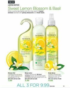 🌟🌟🌟Product of the Day🌟🌟🌟 Enjoy a sunny-day-feeling with the crisp scent of sweet lemons blended with peony blossoms and fresh basil. This new Limited Edition collection is available in Campaign 11 -- Body Lotion, Shower Gel and Body Spray - All 3 for $9.99 Link is in my profile.