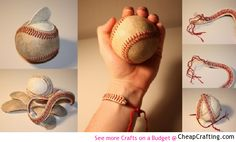 Baseball Bracelet DIY not a friendship bracelet but still... Pretty cool