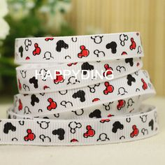 MICKEY MOUSE and Friends DISNEY Grosgrain Ribbon Trim Hair Craft by the Yard