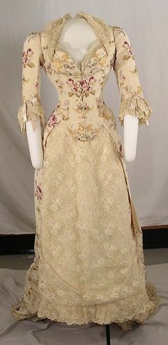 Evening dress by Worth, 1874 Paris, Cornell University