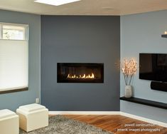 Built in Gas Fireplace Design