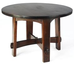 gustav stickley early furniture | 616: GUSTAV STICKLEY Early library table (no. 636)